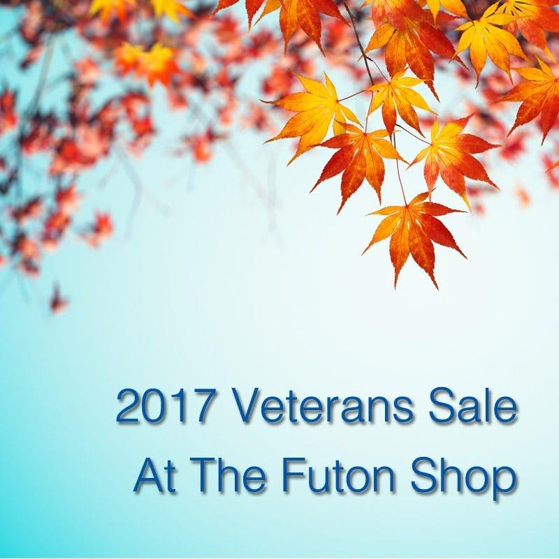 The Futon Shop 2017 Veterans Day Sale