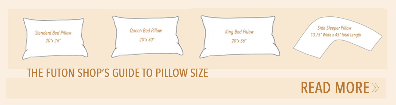 The Futon Shop's Guide To Pillow Size