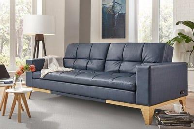 Leather Futon sofa bed