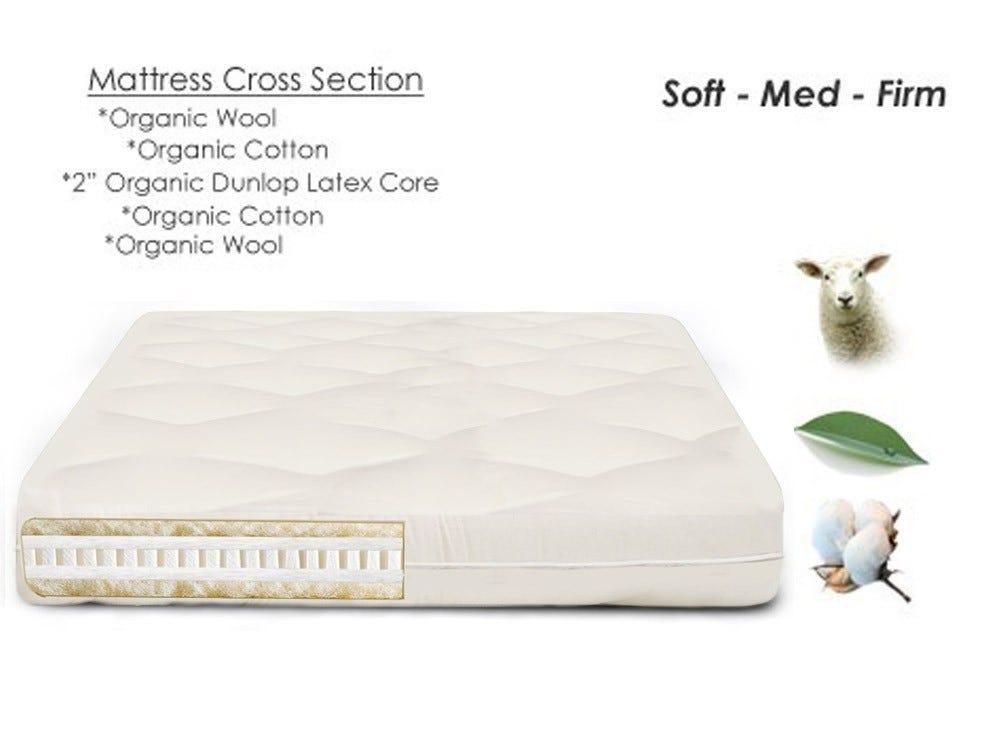 Nova Organic Latex Wool Futon Mattress