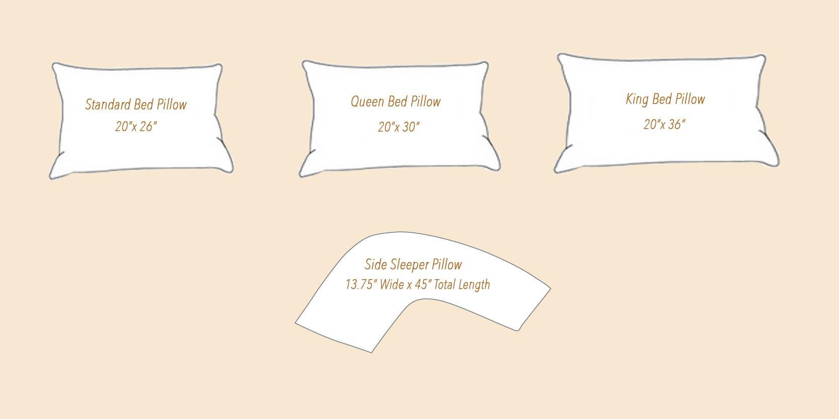 Plush Down Bed Pillows