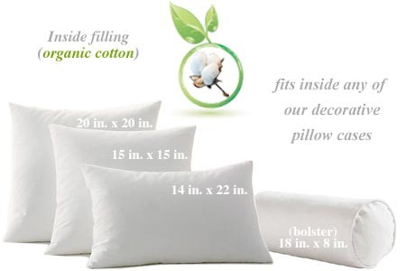 Organic Cotton Throw Pillows Natural