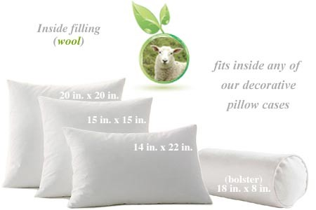 Wool Throw Pillow Inserts