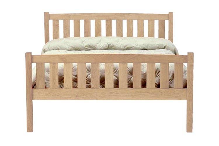 Crown Mission Natural Maple Platform Bed Frame