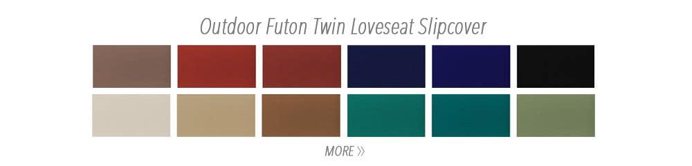 Outdoor Futon Twin Loveseat Slipcover