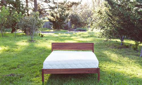 Natural Solid Full/Double Wood Bed Frames