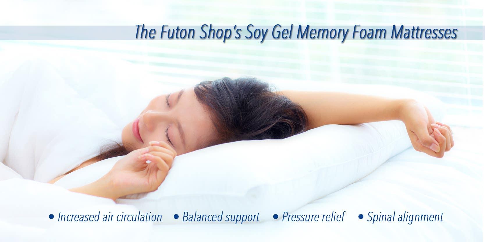 The Futon Shop Gel Memory Foam mattress collection