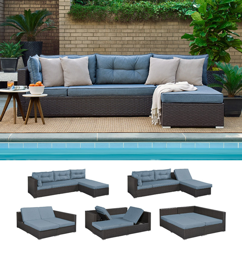 Outdoor Futon Sofa Bed Sectional Andronis