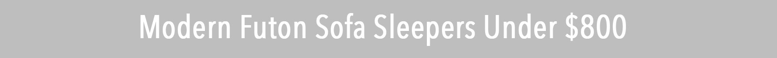 Modern Futon Sofa Sleepers Under $800