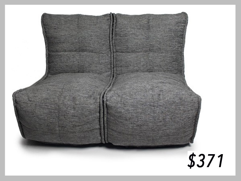 Ambient Lounge Twin Couch Tundra Spring