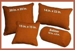Microsuede Copper Pillows