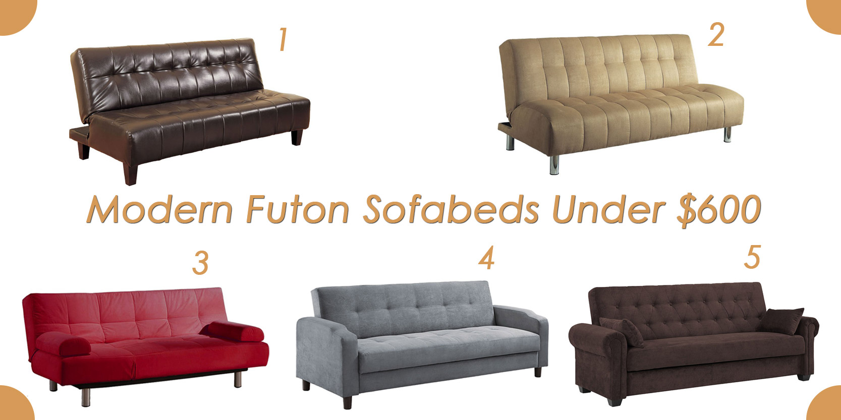 1 Modern Futon Sleeper Java