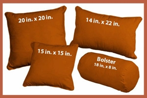 Decorative Throw Pillows Rust Microsuede