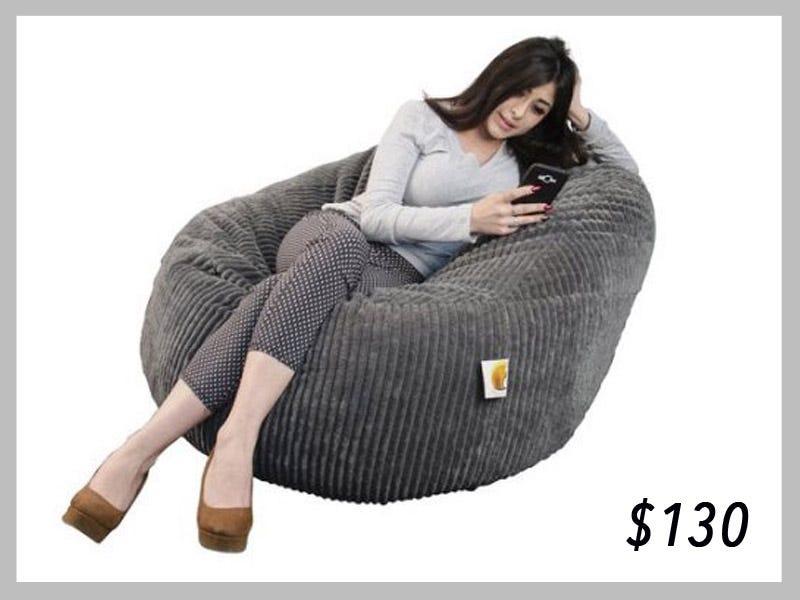 Wallaby Grey Bean Bag Chair