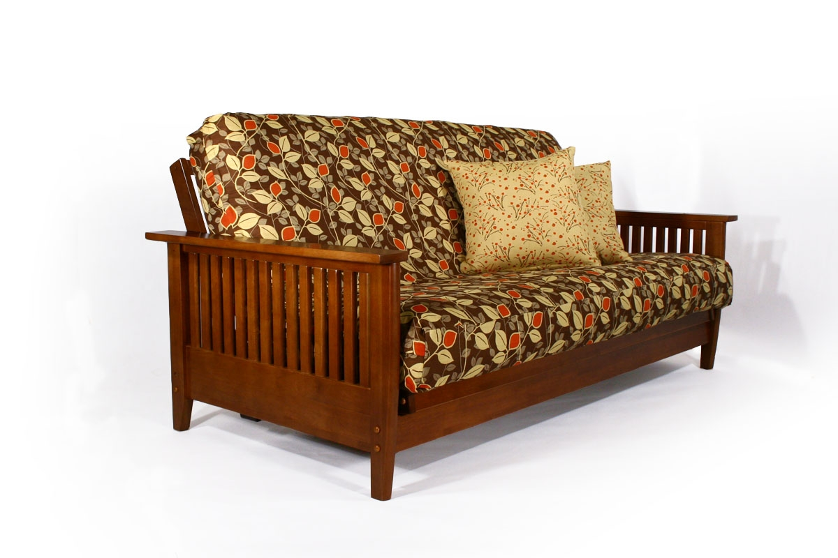 Denali Warm Cherry Futon Sofa Bed