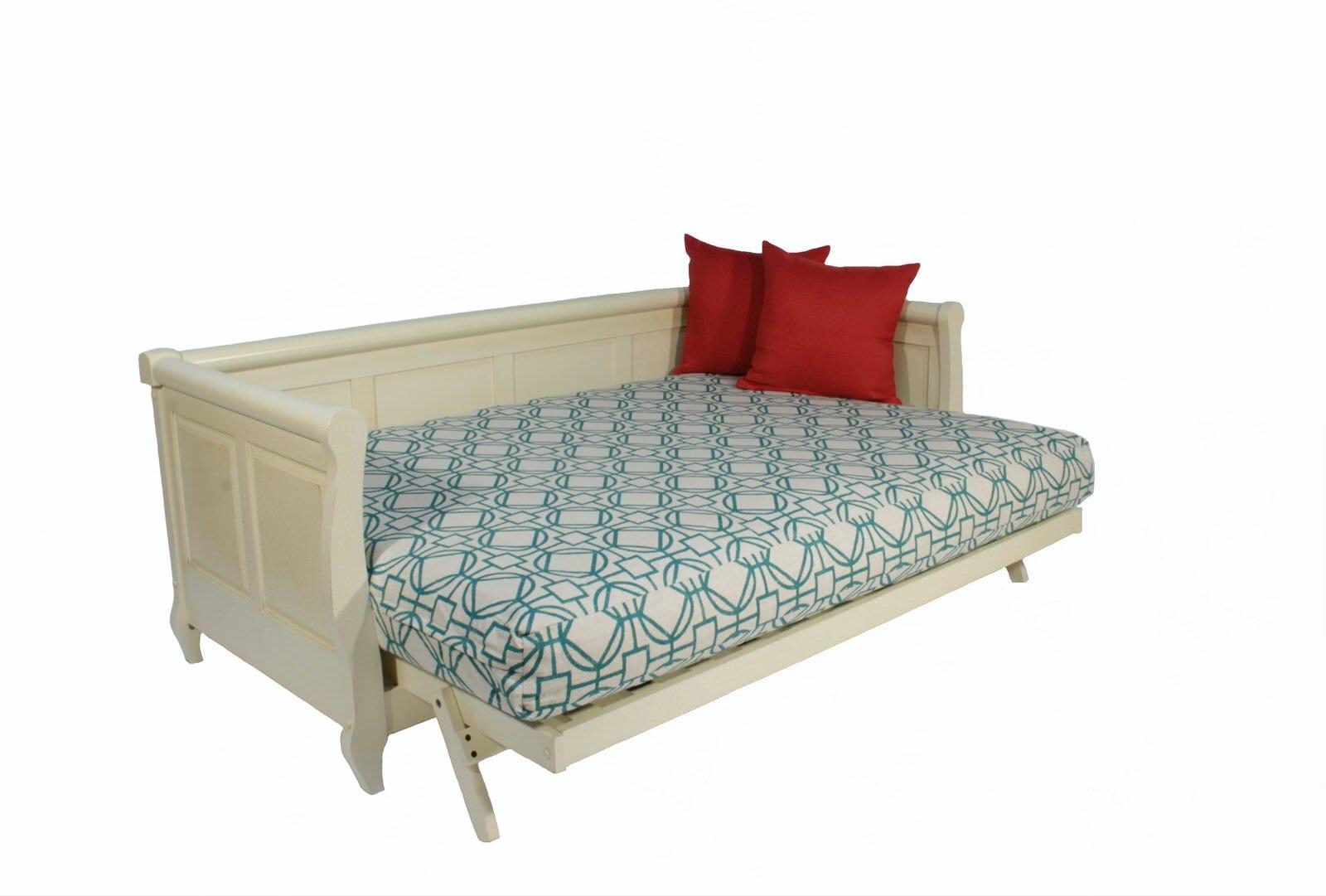 White Wooden Futon Sofa Adriana Wall Hugger Futon Frame