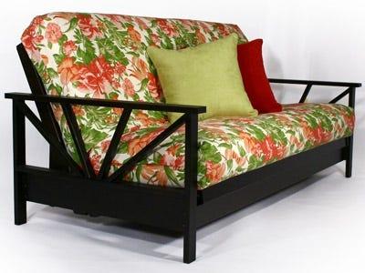 Black Walnut Wall Hugging Futon Bed