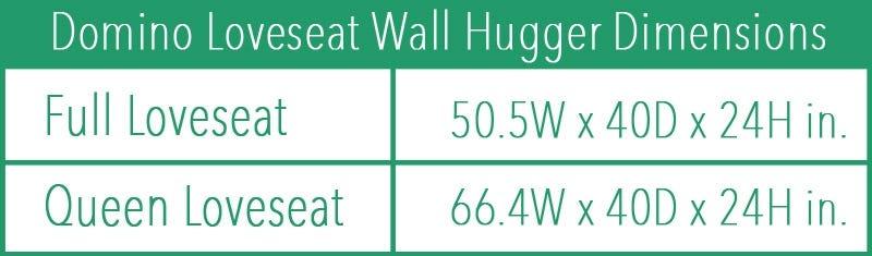 Arial Wallhugger Futon Frame Loveseat Black Walnut