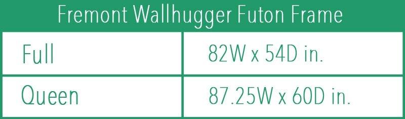Fremont Wallhugger Futon Frame Black Walnut