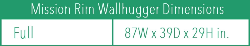 Mission Rim Wallhugger Futon Frame