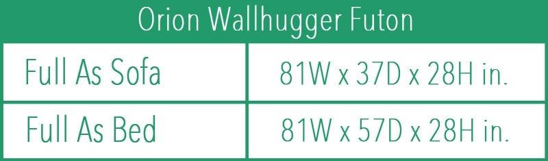 Orion Wallhugger Futon Black Walnut