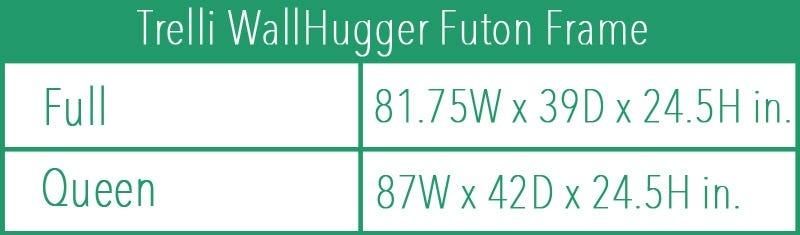 Dillon Wall Hugger Futon Frame