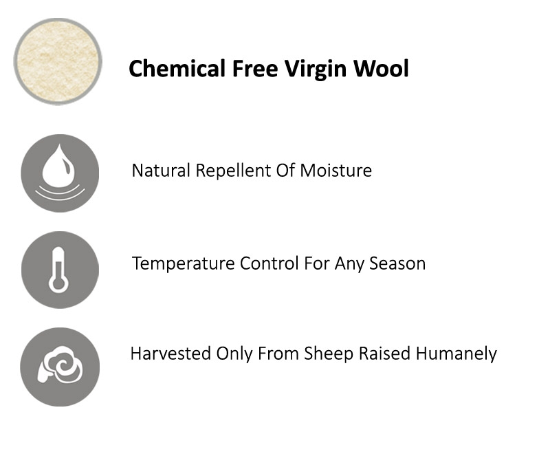100% chemical free virgin wool