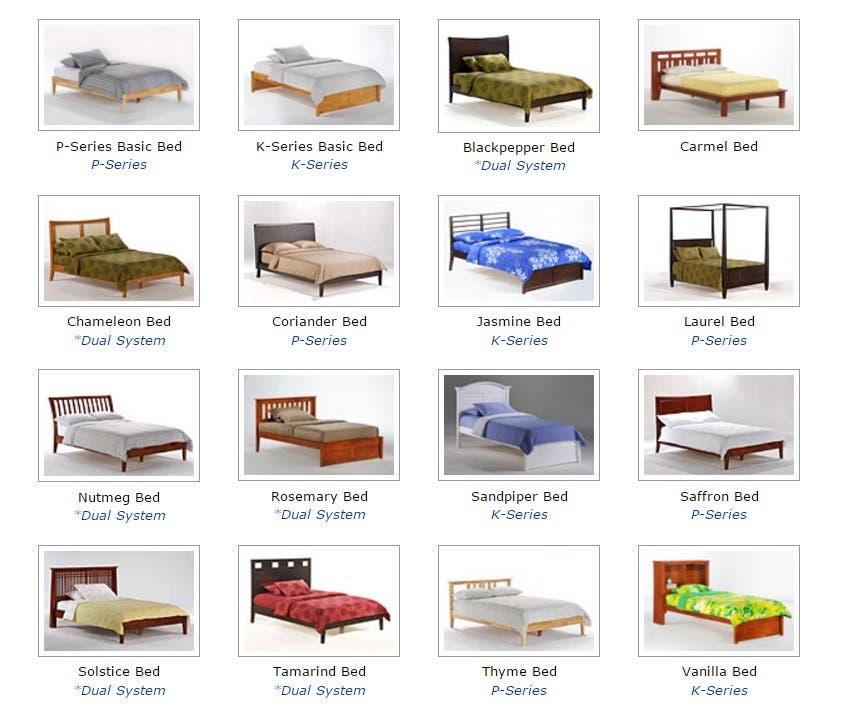 platform bed list