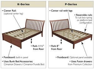 Basic Platform Storage Bed Maple K Series